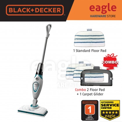 ( Combo ) Black & Decker FSM1605-XJ Steam Mop With Standard Accessories + 2 x 90585868, 90585491 ( FSM1605 )